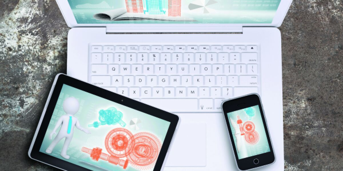 Laptop, Smartphone und Tablet