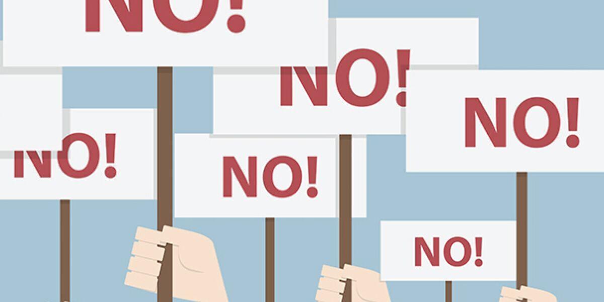 Nein-Schilder