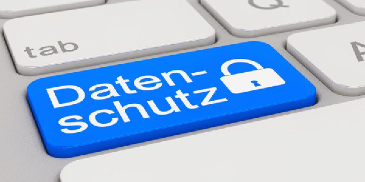 Datenschutz auf einer Computertastatur