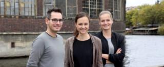 Christian Thieme, Anja Dreghan, Maria Gerono von Join, dem Jobinnovator, und der neuen Jobsuchmaschine