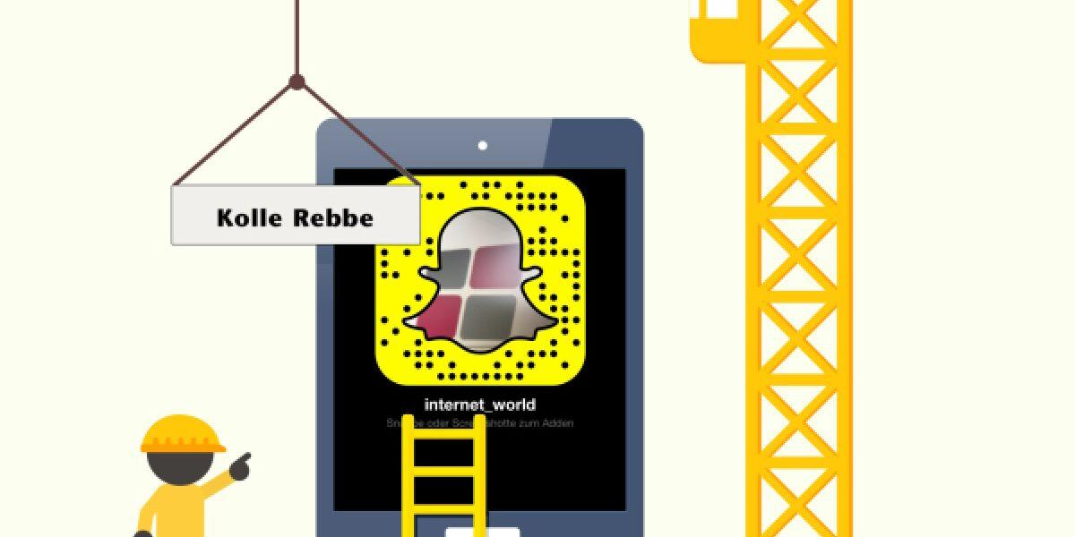 Kolle Rebbe übernimmt Snapchat-Account