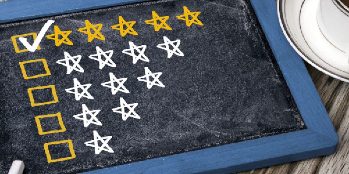 Sterne auf einer Tafel