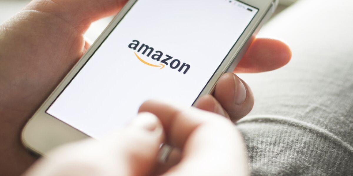 Amazon Seite auf dem Smartphone
