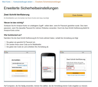 Amazon Webseite
