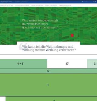 Usability Website im Onepage-Design mit Aufmerksamkeitstest