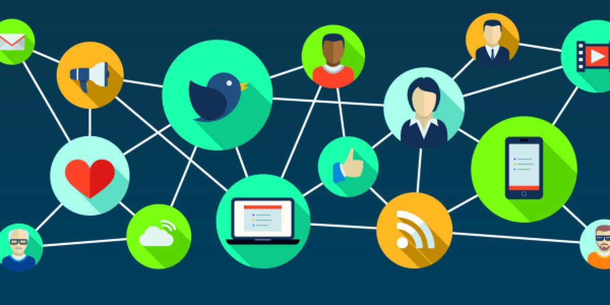 Themen-Netzwerk zu Social Media