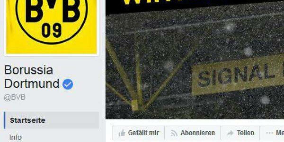 Die verifizierte Facebook-Seite von Borussia Dortmund