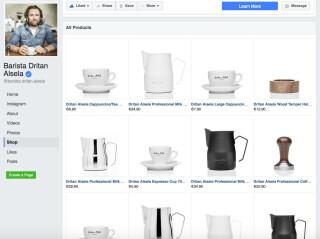 Der Facebook-Shop von Dritan Alsela