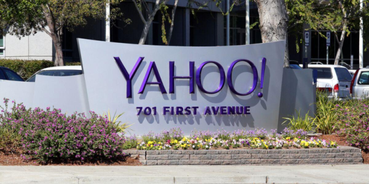 Yahoo Eingangsschild
