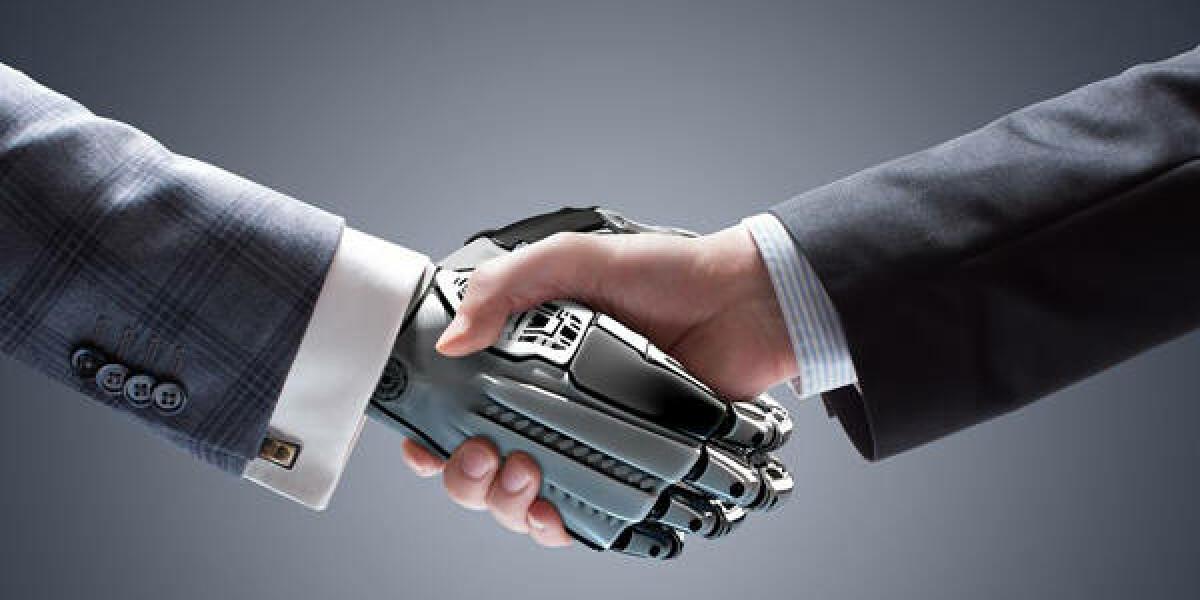 Roboter trifft Mensch