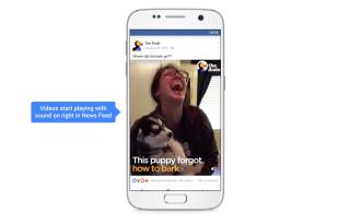 Facebook Videos starten mit Ton