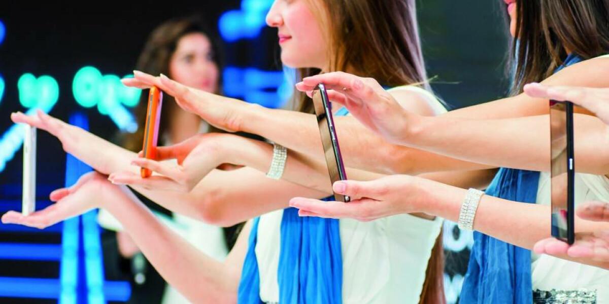 Smartphone-Präsentation auf dem MWC