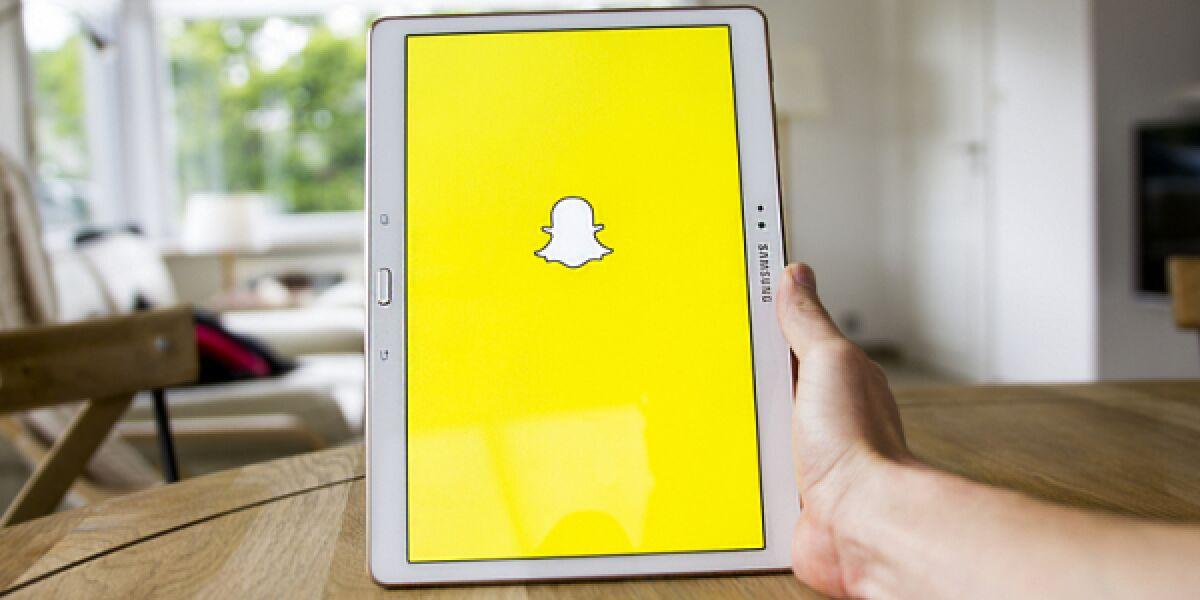 Snapchat Tablet Hand