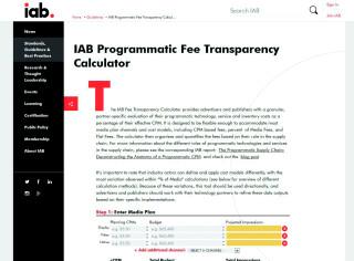 Adtech Gebührenrechner IAB USA
