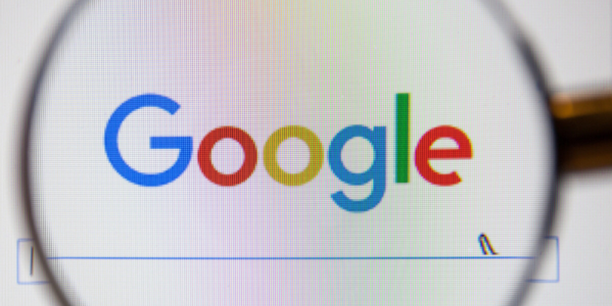 Google mit Lupe