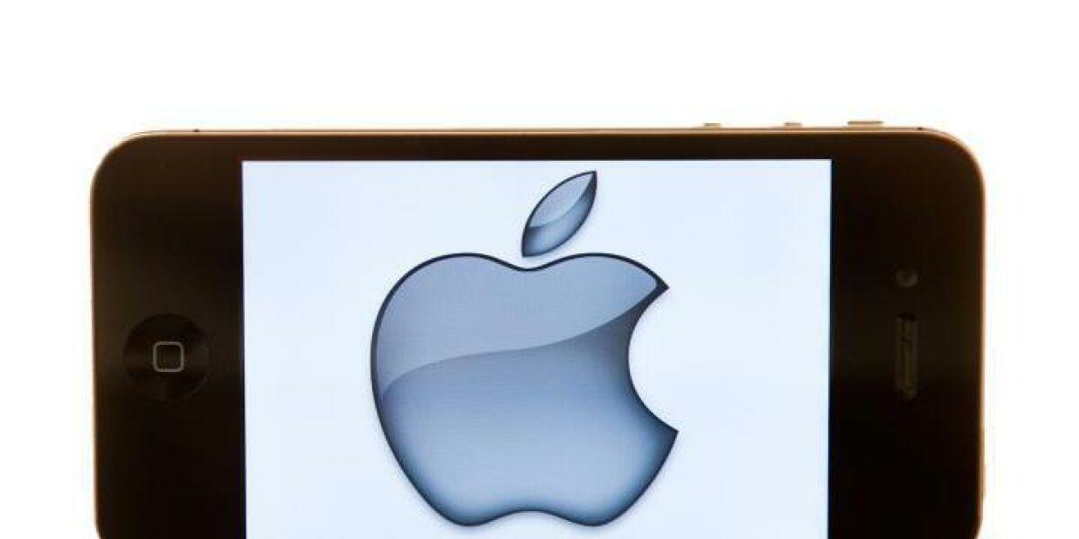 Handy mit Apple-Logo