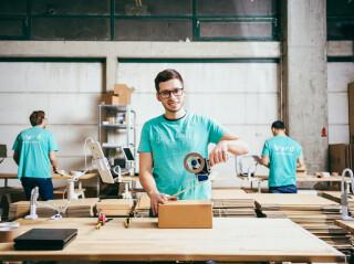 Lager von Start-up Byrd