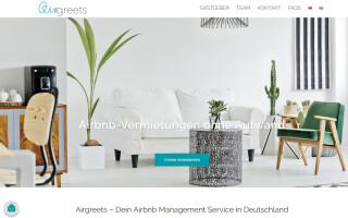 Screenshot von Airgreets aus Muenchen