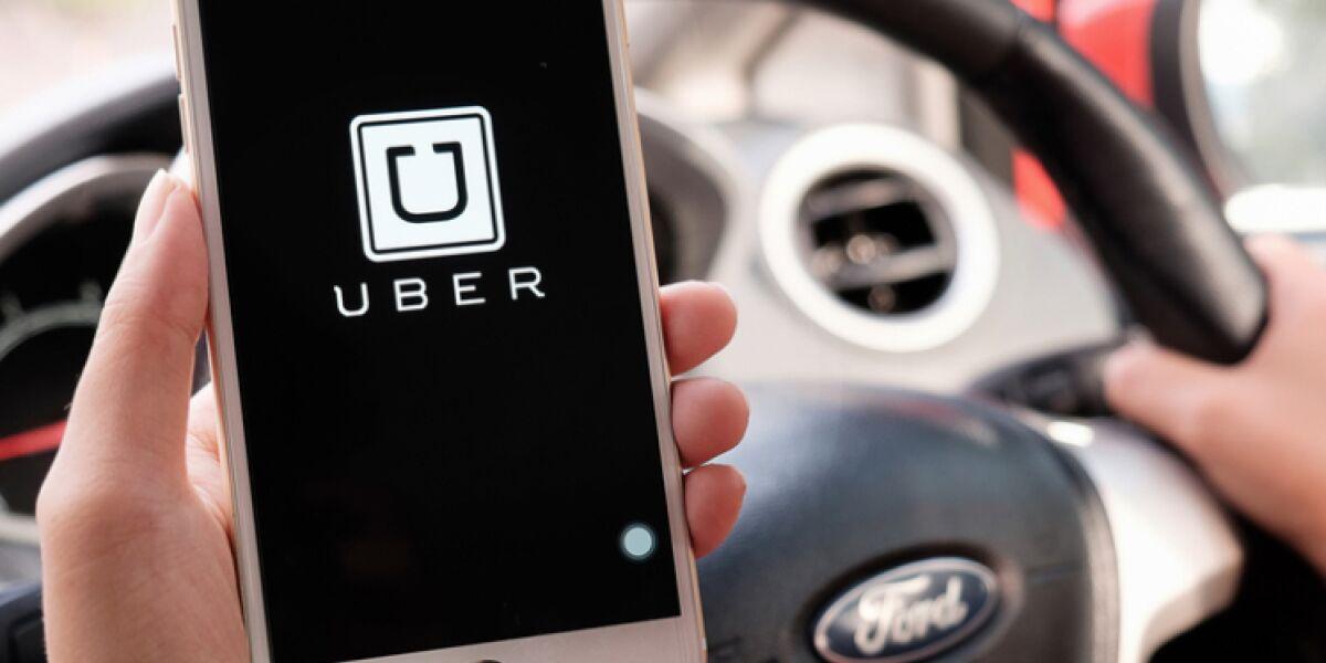 Uber-App auf Smartphone
