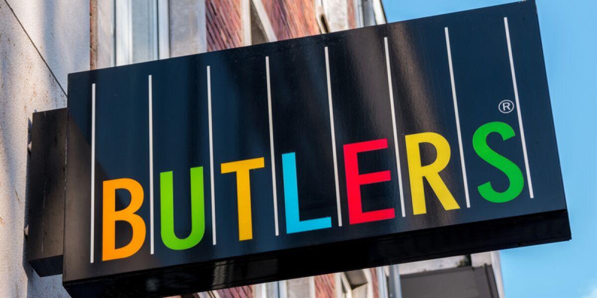 Filialschild von Butlers