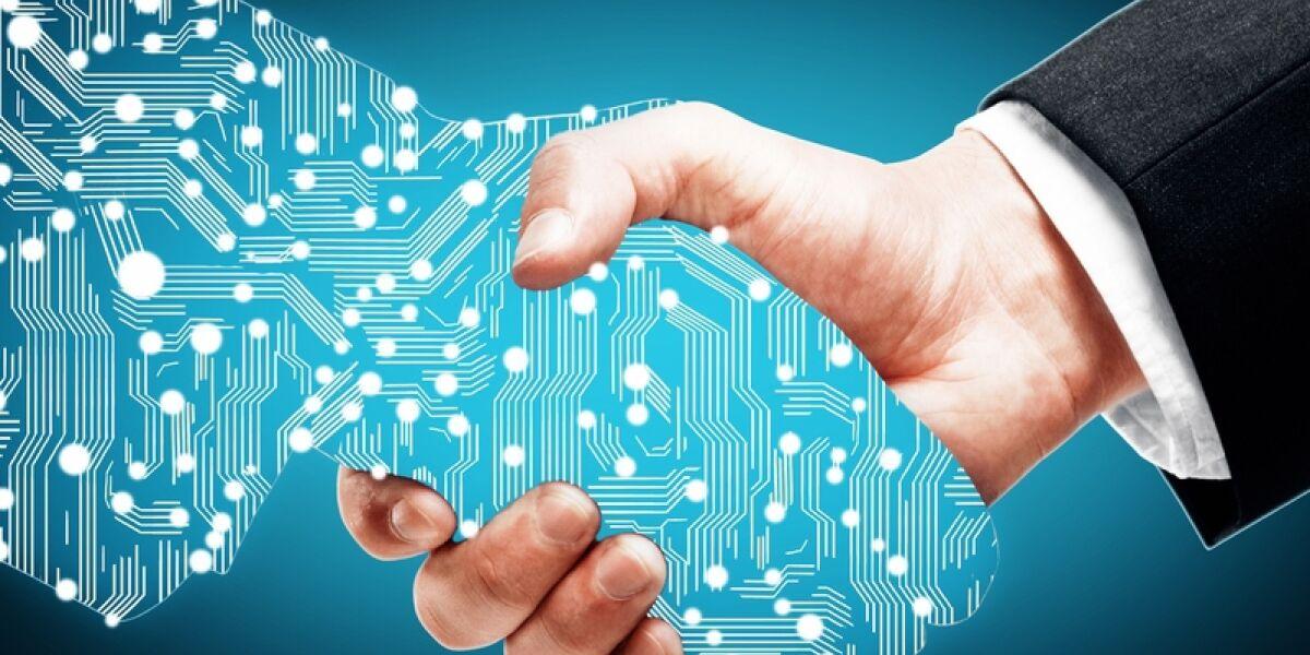 Digitalisierte Hand