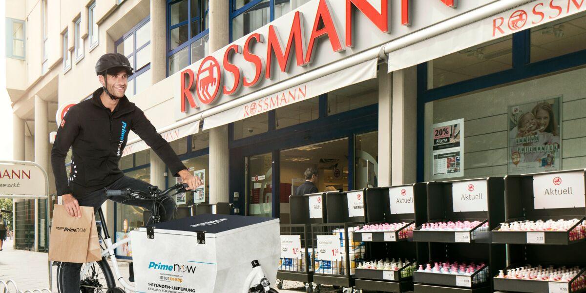 Amazon Prime Now und Rossmann