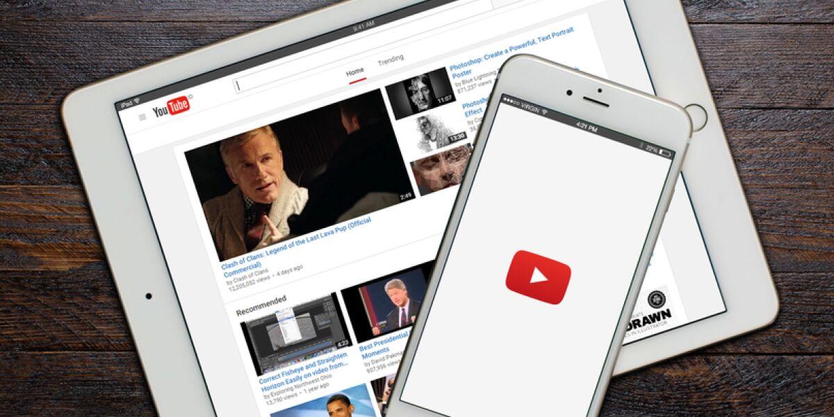 YouTube auf Tablet und Smartphone