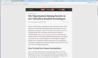 Leseansicht unter Chrome dank Mercury Reader