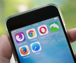 browser auf smartphone