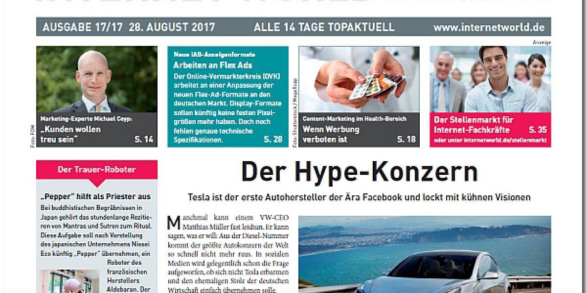 Cover der Ausgabe 17-2017 von INTERNET WORLD Business