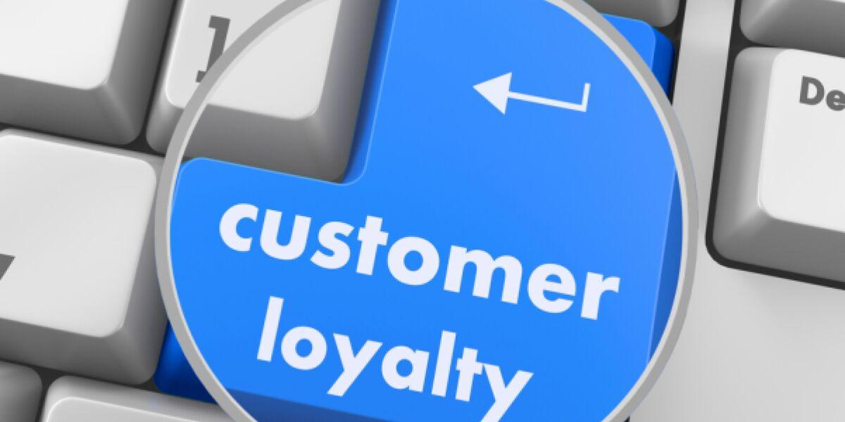 Tastatur Lupe Button customer loyalty