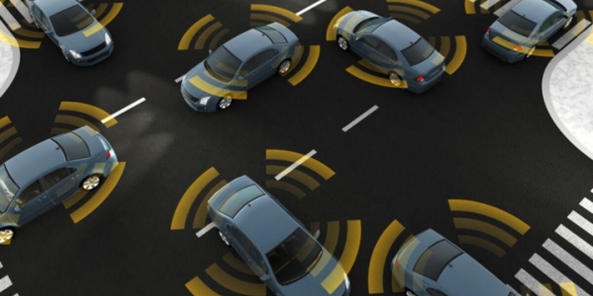 Autos Autonomes Fahren Kreuzung