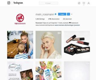 Rossmann auf Instagram