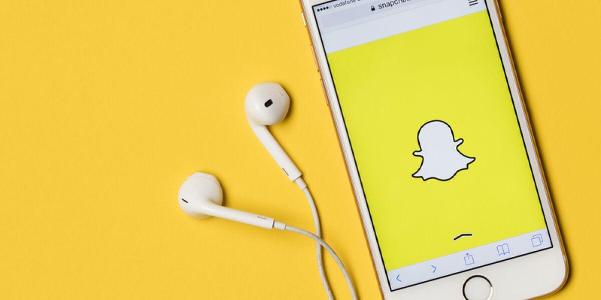 Snapchat-App auf Smartphone