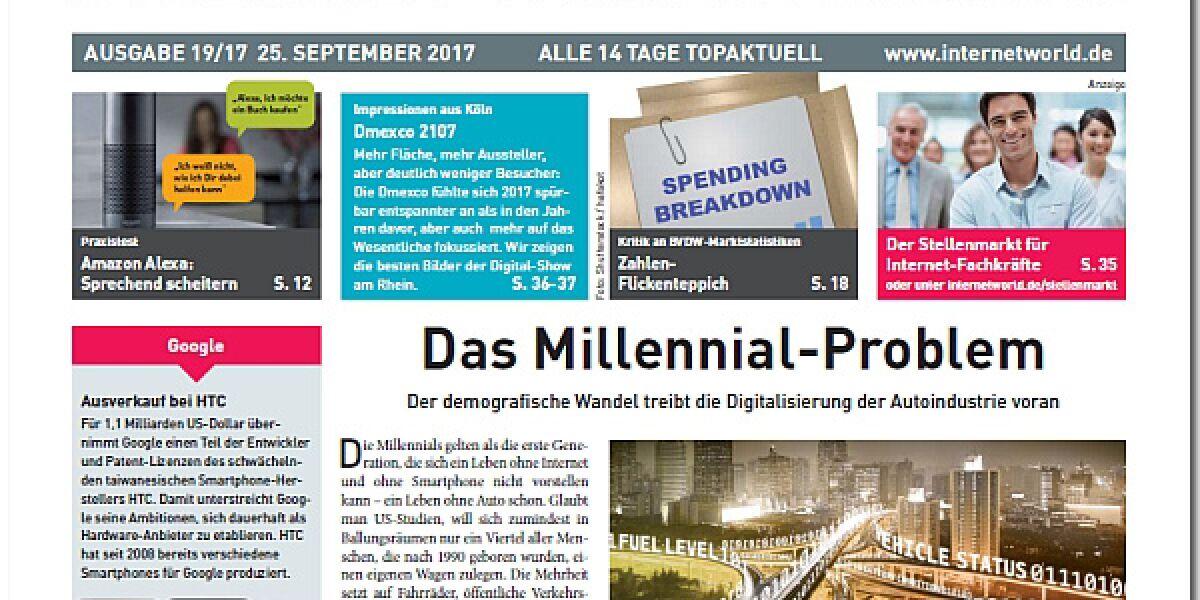 Cover der Ausgabe 19-2017 von INTERNET WORLD Business