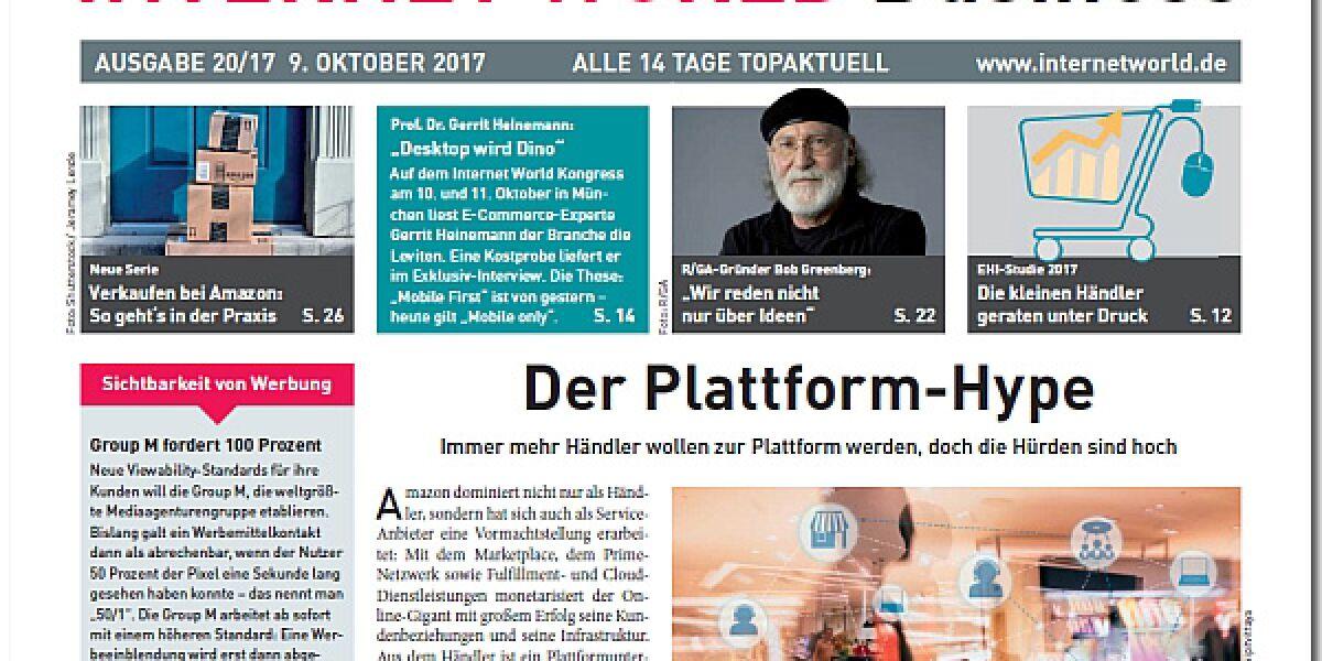INTERNET WORLD Business Ausgabe 20-2017