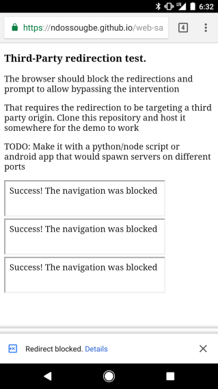 Redirection-Test