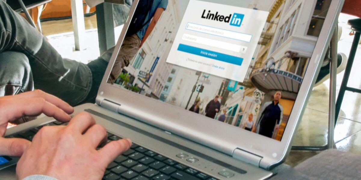 LinkedIn auf dem Notebook