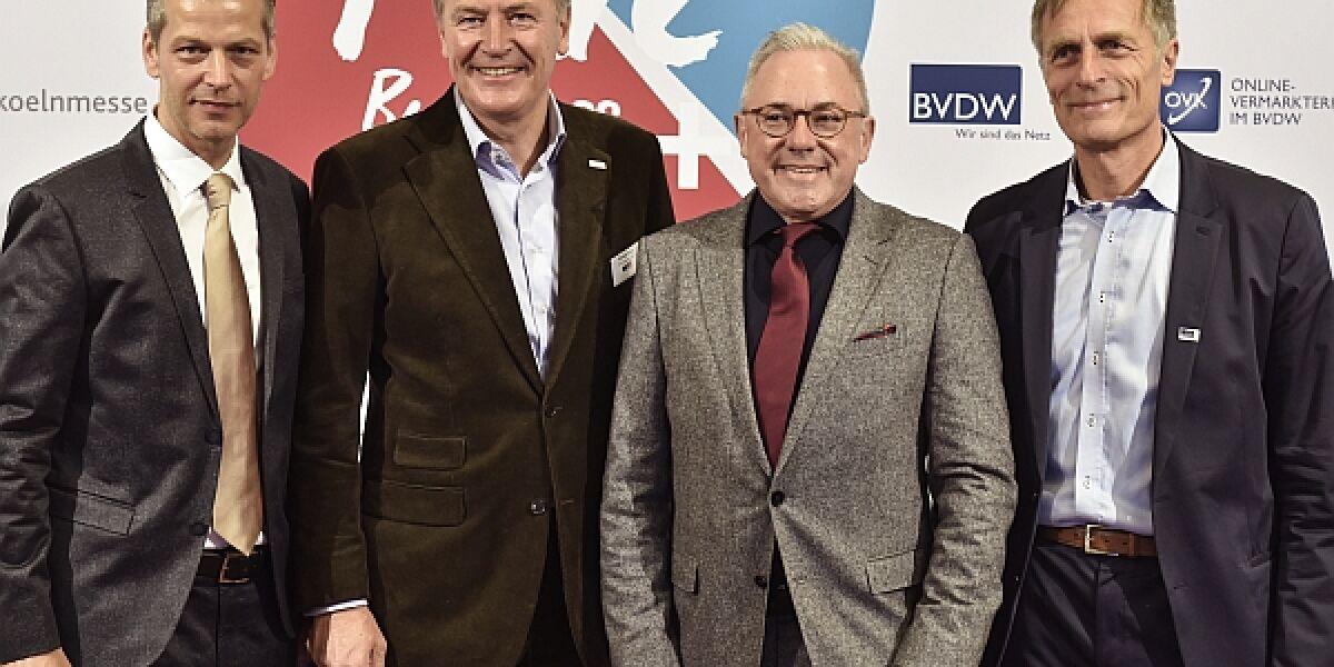 Christian Muche, Gerald Böse, Frank Schneider, Matthias Wahl, Dmexco 2017