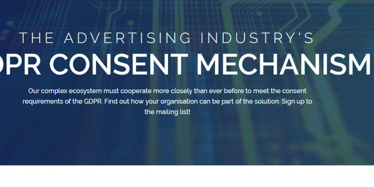 Einstiegsseite von Advertisingconsent.eu
