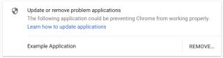 Chrome Warnung