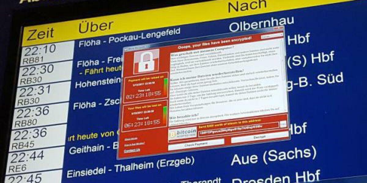 Bahn-Anzeigentafel