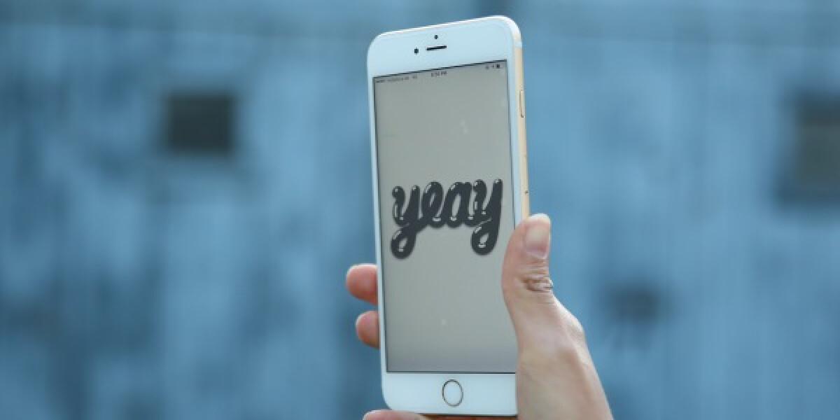 Yeay auf dem Smartphone