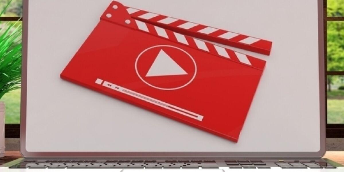 Video auf dem Notebook