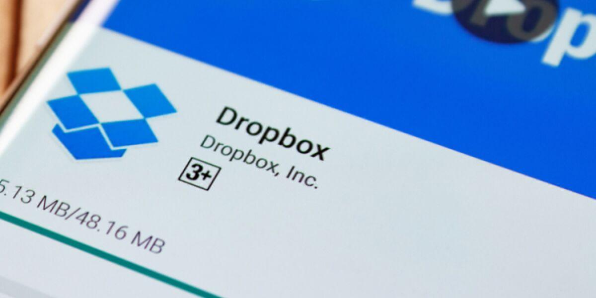 Dropbox-App auf dem Smartphone