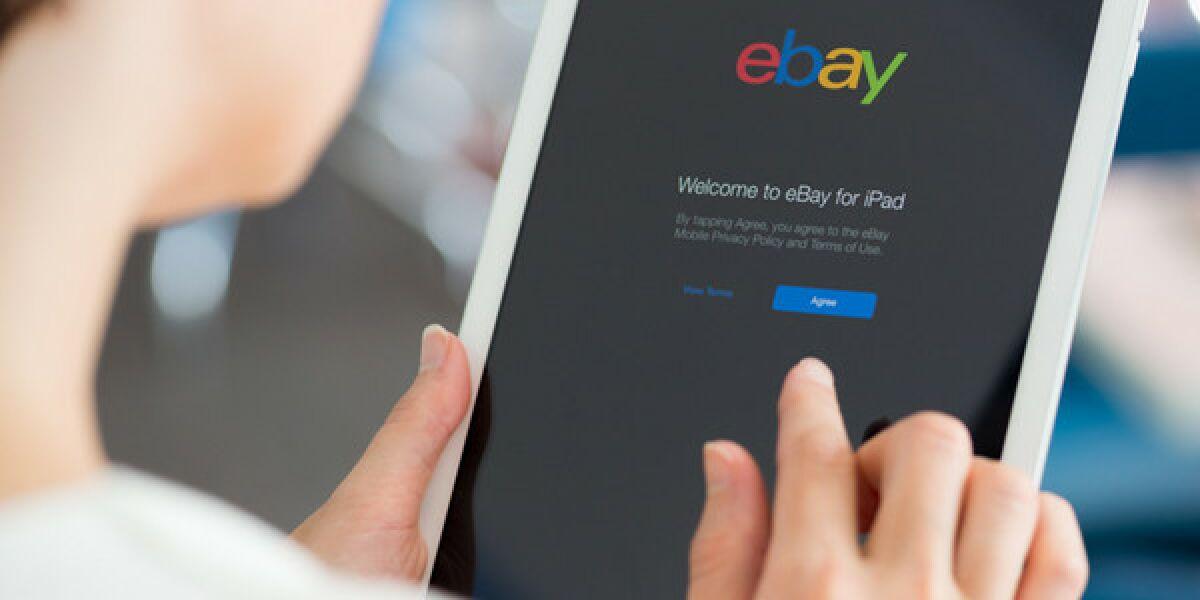 ebay auf dem Tablet