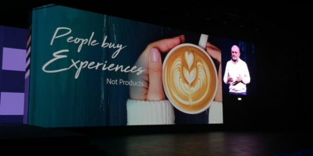Adobe CEO Shantanu Narayen auf dem Adobe Summit 2018