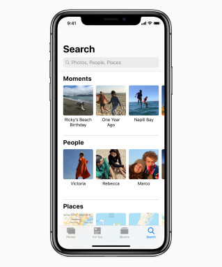 iOS 12 Fotosuche