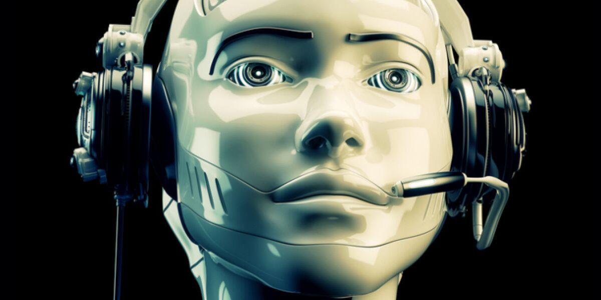 Roboter mit Headset