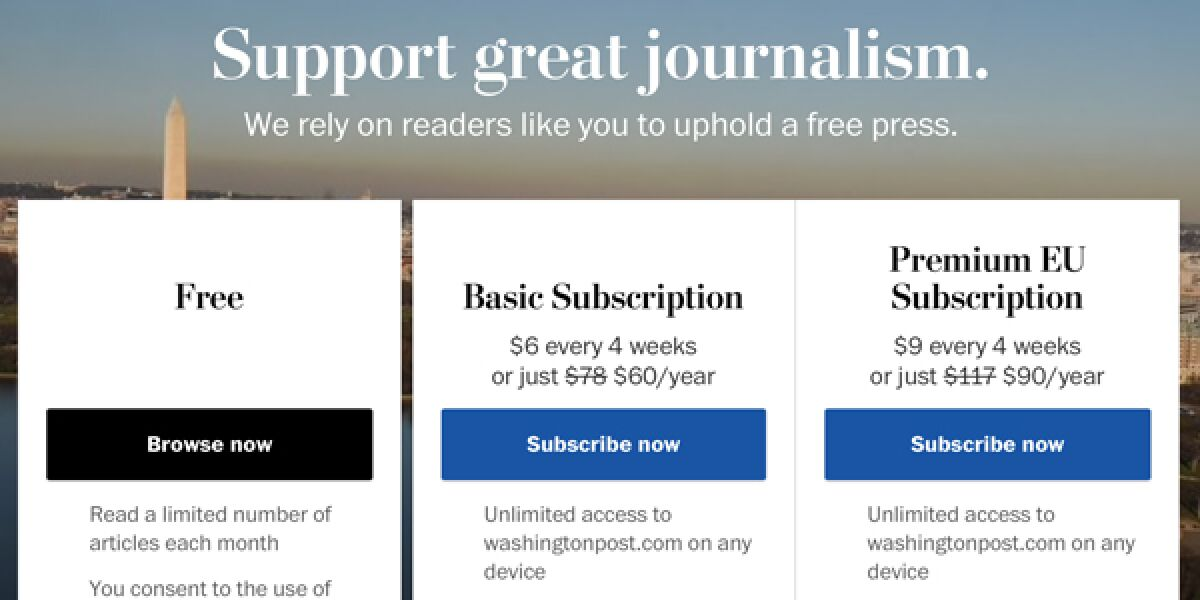Washington Post Subscriber